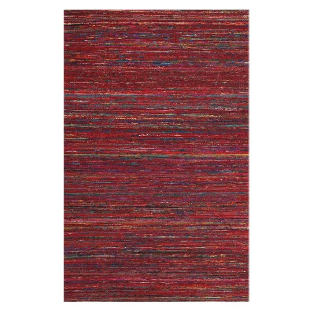 Tieast Hand Woven Red Area Rug Rug Size: Rectangle 5' x 8'