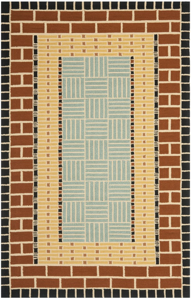 George Brown/Blue Outdoor Area Rug Rug Size: Rectangle 5' x 8'