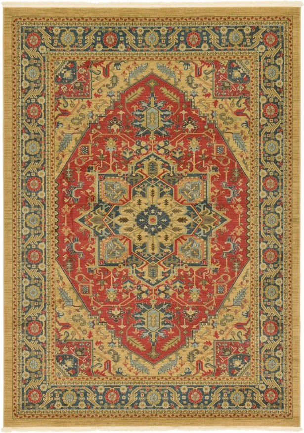 Sina Red/Brown Area Rug Rug Size: Rectangle 5' x 8'