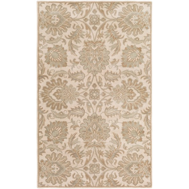 Topaz Hand-Tufted Taupe Area Rug Rug Size: Rectangle 4' x 6'