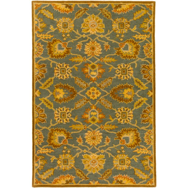 Keefer Hand-Tufted Wool Tan Area Rug Rug Size: Rectangle 5' x 8'