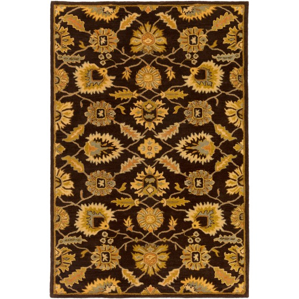 Keefer Hand-Tufted Dark Brown Area Rug Rug Size: Rectangle 10' x 14'