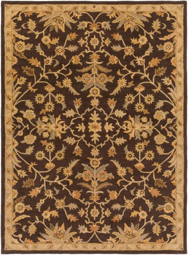 Casselman Black/Gold Area Rug Rug Size: Rectangle 8' x 11'