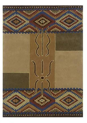 Safford Hand-Tufted Brown/Tan Area Rug Rug Size: Rectangle 5' x 7'