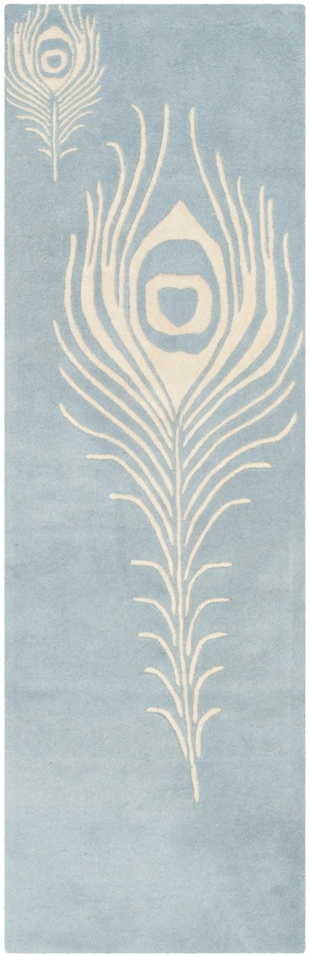 Dorthy Light Blue / Ivory Contemporary Rug Rug Size: Runner 2'6