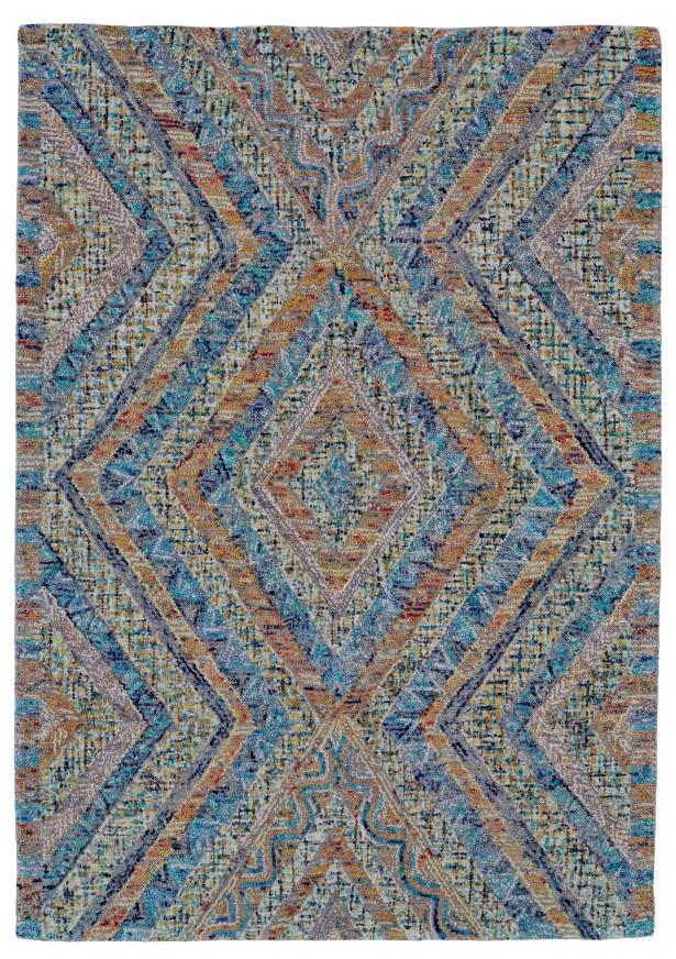 Haeli Hand-Tufted Blue/Gray Area Rug Rug Size: Rectangle 5' x 8'