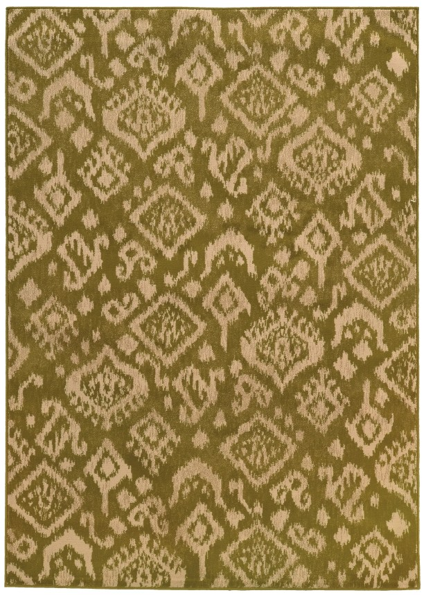 Sonora Green/Beige Area Rug Rug Size: Rectangle 3'3