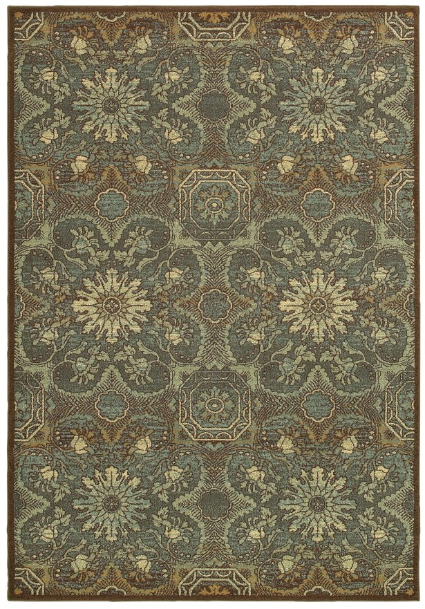 Clarkson Brown/Teal Area Rug Rug Size: Rectangle 9'9