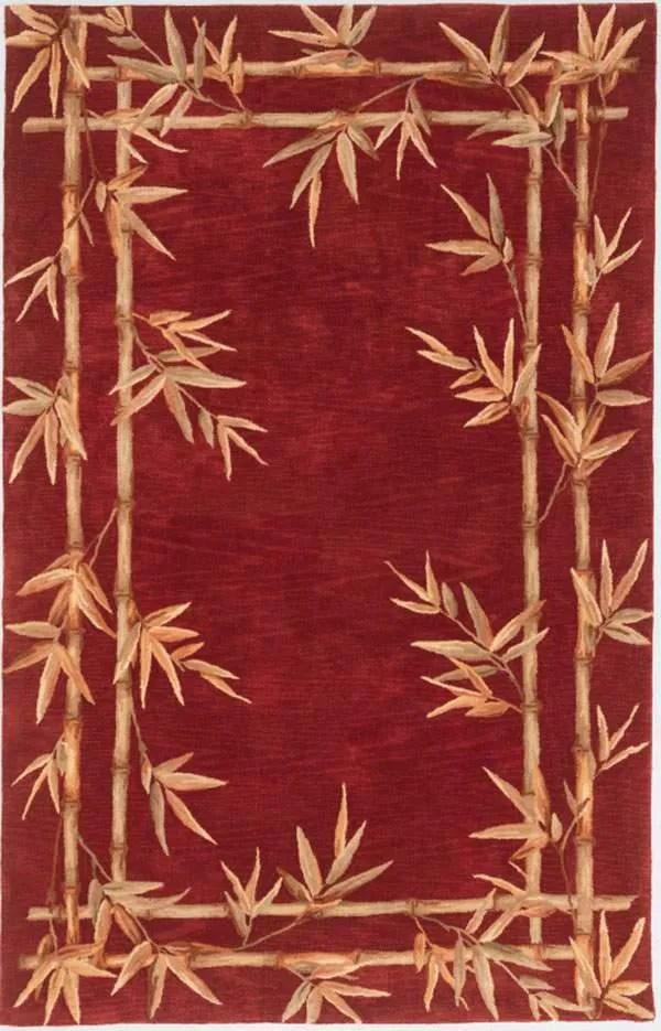 Chenai Red Bamboo Border Area Rug Rug Size: Rectangle 8'6