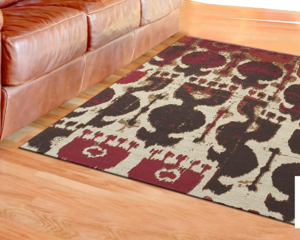 Joshawn Hand-Loomed Red/Brown Area Rug Rug Size: Rectangle 8' x 11'