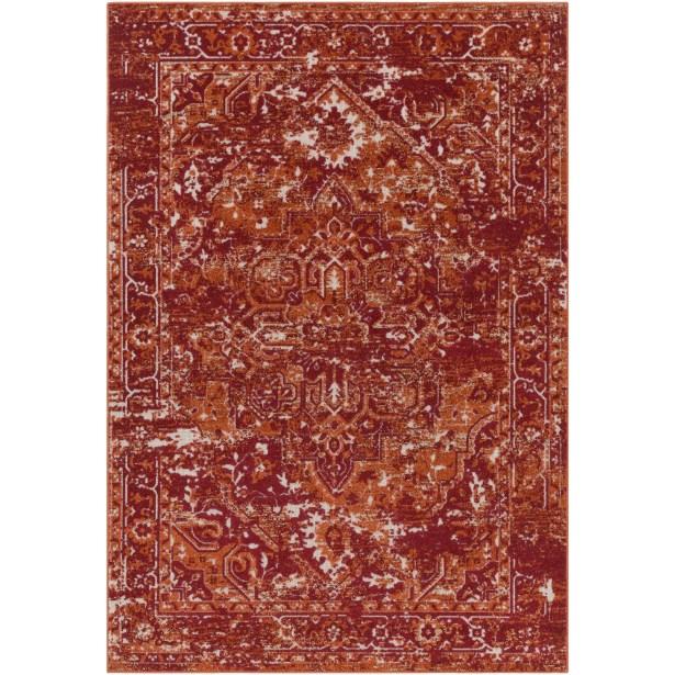 Angus Burnt Orange/Dark Red Indoor/Outdoor Area Rug Rug Size: Rectangle 5'3