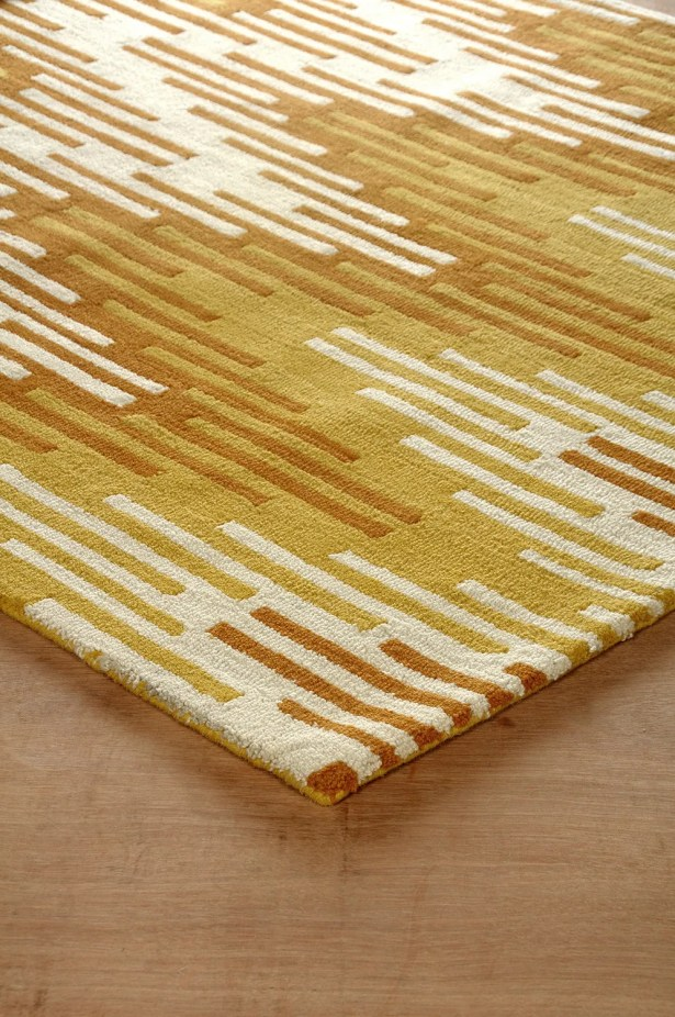 Flanary Hand-Tufted Orange/Ivory Area Rug Rug Size: Rectangle 6' x 9'