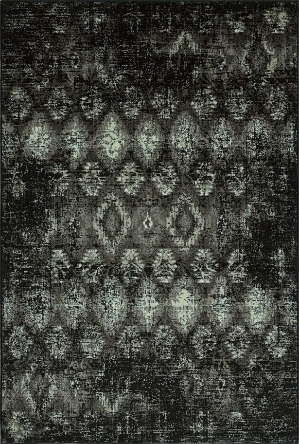 Ashim Black Area Rug Rug Size: Rectangle 4'11