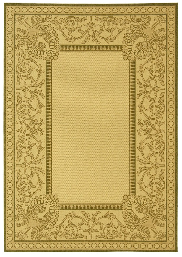 Catori Natural / Olive Outdoor Area Rug Rug Size: Rectangle 8' x 11'