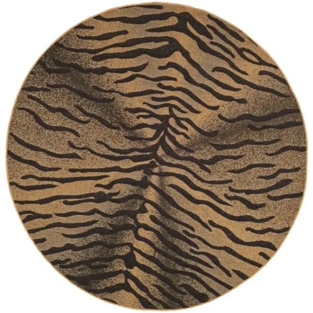 Catori Light Black/Natural Outdoor Rug Rug Size: Round 6'7