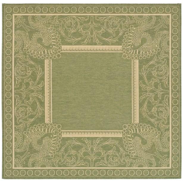 Catori Olive/Natural Rug Rug Size: Square 6'7