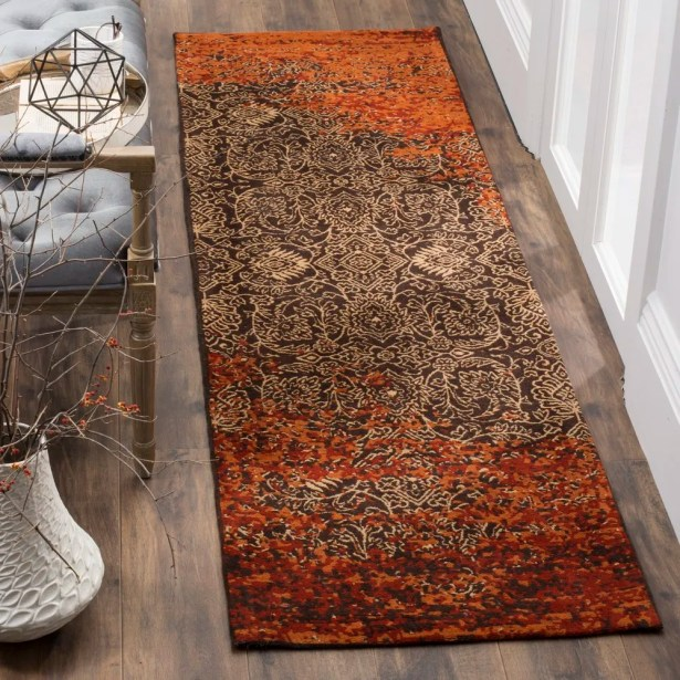 Anwick Rust/Brown Area Rug Rug Size: Runner 2'3