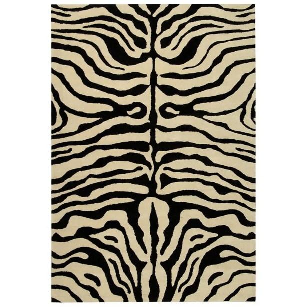 Dorthy Black/Ivory Area Rug Rug Size: Rectangle 9'6