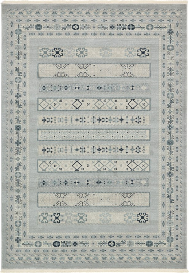 Foret Noire Light Gray Area Rug Rug Size: Rectangle 5' x 8'