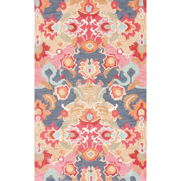 Maastricht Blue/Red Area Rug Rug Size: Rectangle 4' x 6'