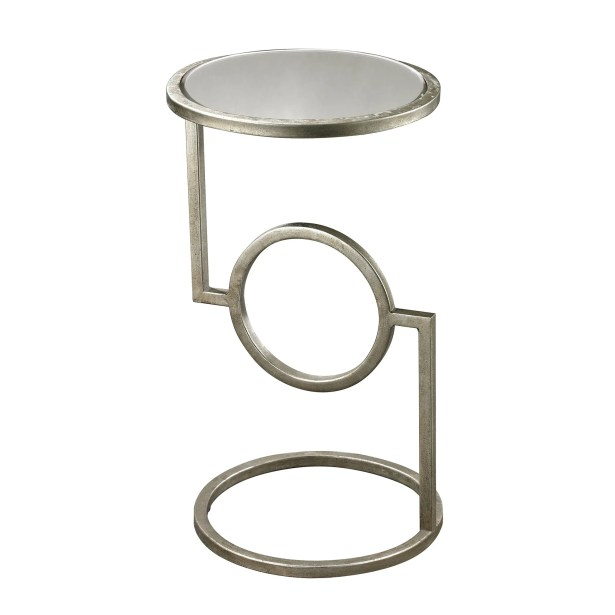 Reiban End Table Color: Silver