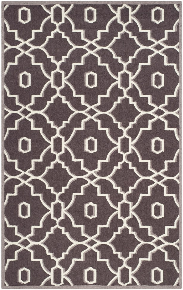 Dwight Dark Gray/Ivory Area Rug Rug Size: Rectangle 5' x 8'