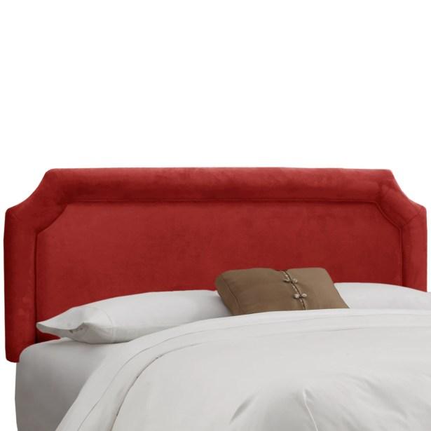 Amber Upholstered Panel Headboard Size: King, Upholstery: Premier Red