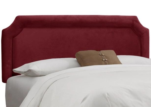 Fairview Upholstered Panel Headboard Upholstery: Velvet Berry, Size: King