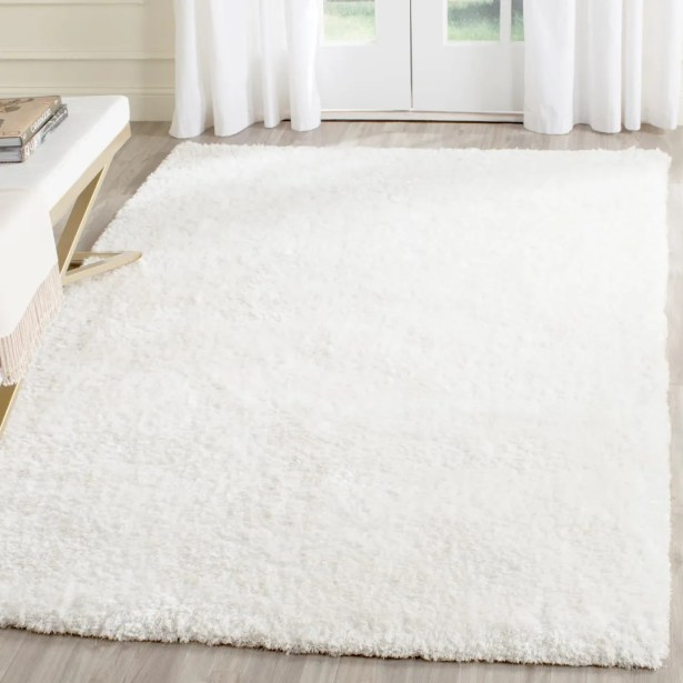 Aston Hand-Tufted Cream Area Rug Rug Size: Rectangle 4' x 6'