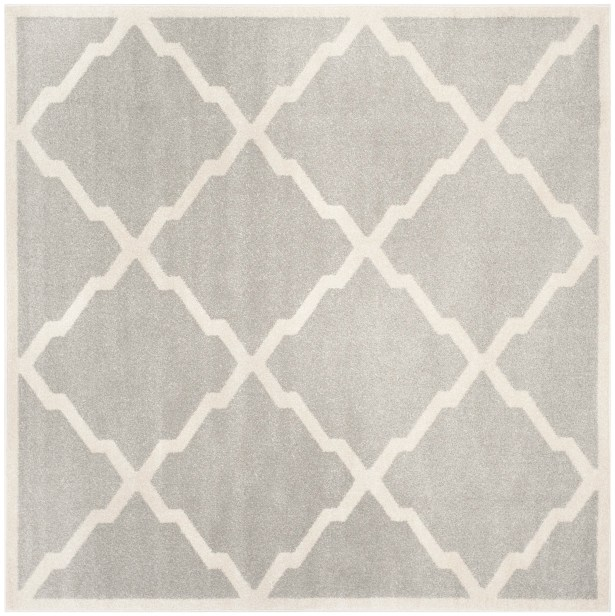 Maritza Light Gray/Beige Indoor/Outdoor Area Rug Rug Size: Square 7'