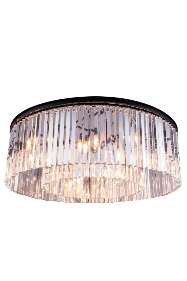 Laperle 10-Light Flush Mount Finish: Mocha Brown, Crystal Color: Silver Shade (Grey)
