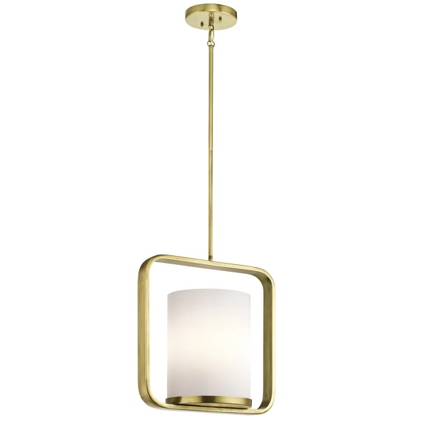 Cheetham 1-Light Geometric Pendant Finish: Natural Brass