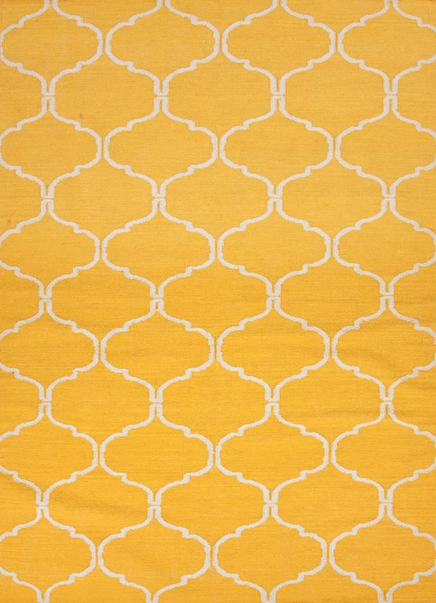 Caresse Hand-Woven Yellow Area Rug Rug Size: Runner 2'6