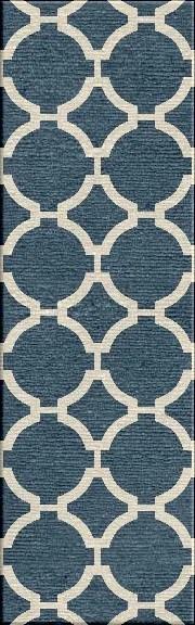 Blondene Durable Hand-Woven Blue Area Rug Rug Size: 5' x 8'