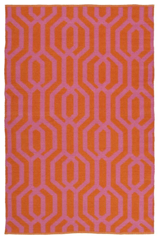 Camillei Orange/Pink Indoor/Outdoor Area Rug Rug Size: Rectangle 3' x 5'