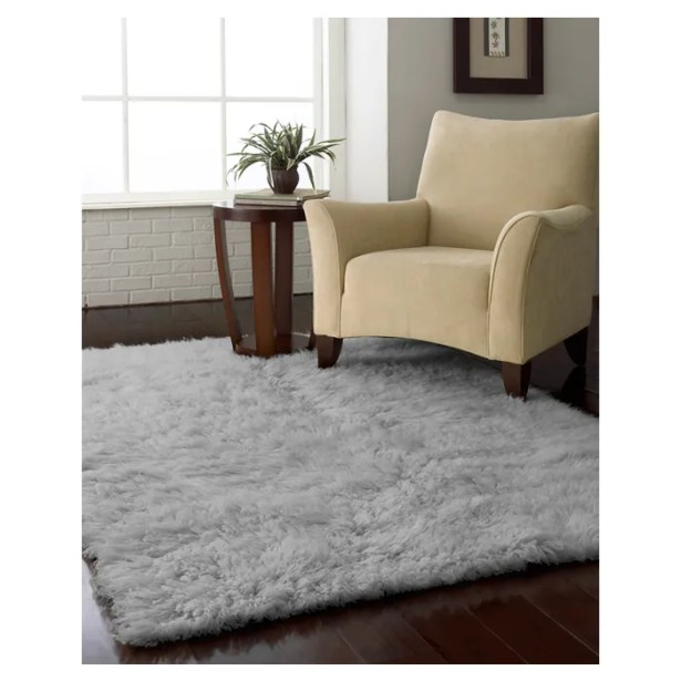 Gherardo Wool Gray Area Rug Rug Size: Rectangle 7' x 9'