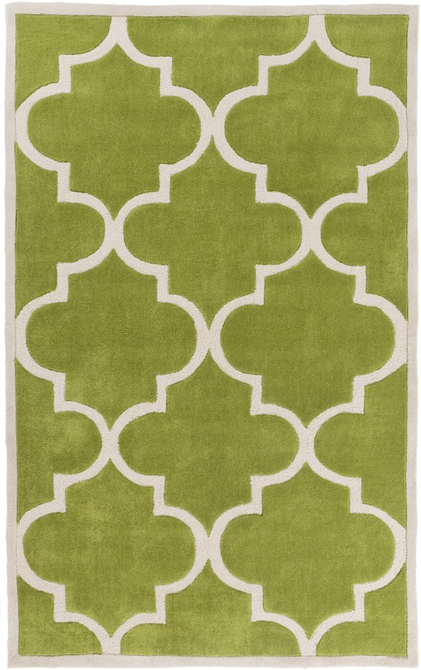 Duffield Light Gray/Lime Geometric Area Rug Rug Size: Rectangle 3'6