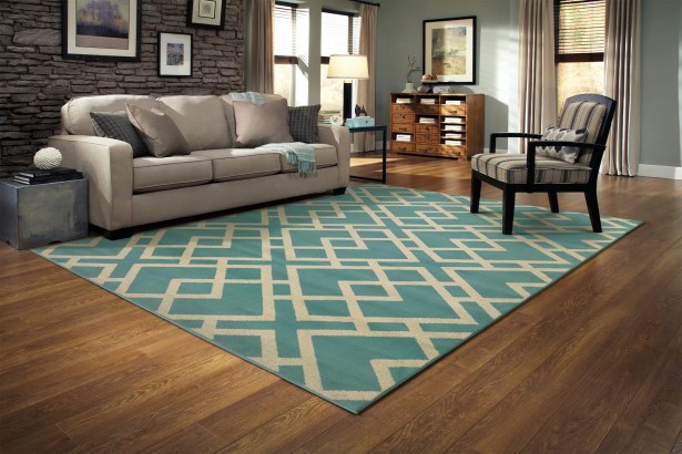 Alula Geometric Blue/Light Grey Area Rug Rug Size: Rectangle 3'3