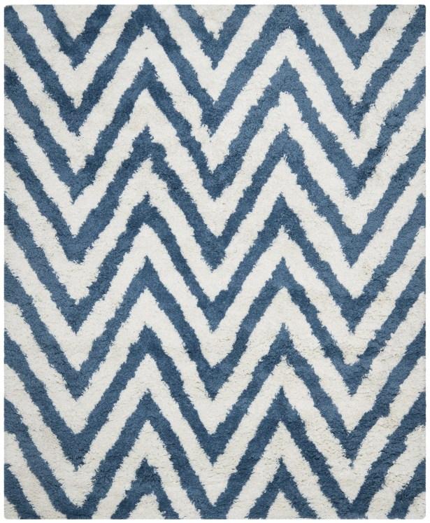 Davey Ivory/Blue Area Rug Rug Size: Rectangle 8'9