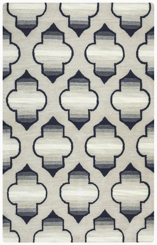 Chandler Hand-Tufted Gray Area Rug Rug Size: Rectangle 5' x 8'