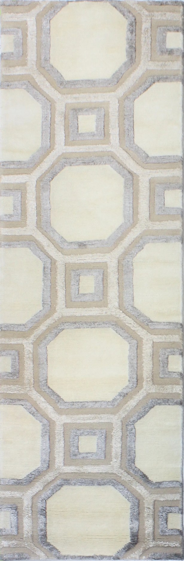Giles Hand-Tufted Ivory Area Rug Rug Size: Runner 2'6