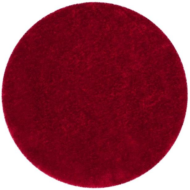 Shortt Shag Hand Tufted Red Area Rug Rug Size: Round 8'