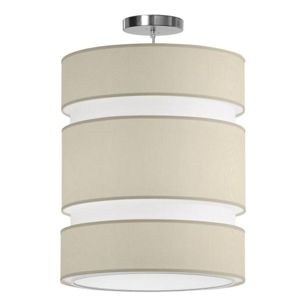 Lena 2-Light Pendant Shade Color: Cream, Size: 20