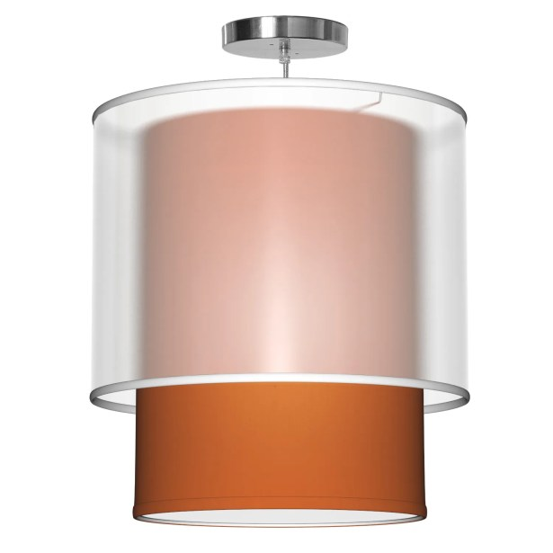 Lumiere 1-Light Pendant Shade Color: Orange, Size: 26