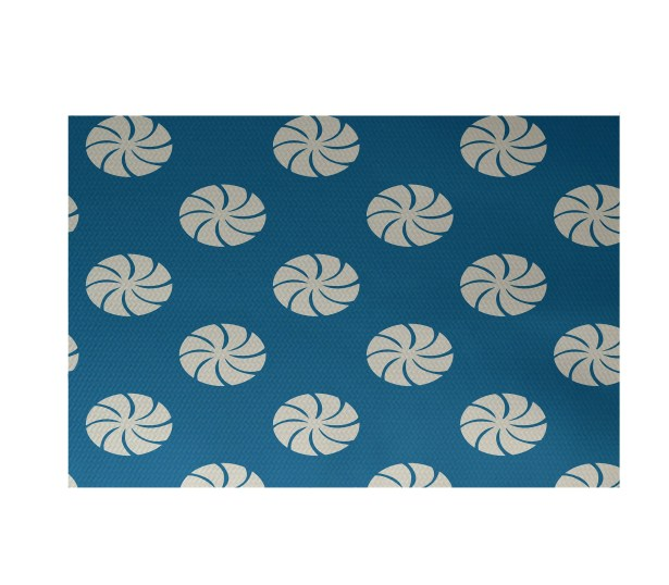 Decorative Holiday Geometric Print Turquoise Indoor/Outdoor Area Rug Rug Size: Rectangle 3' x 5'