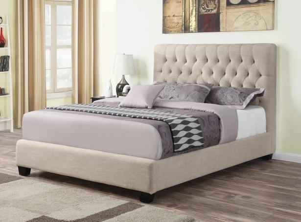 Christen Upholstered Panel Bed Size: California King, Color: Oatmeal