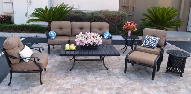 Nola 7 Piece Sunbrella Sofa Set with Cushions