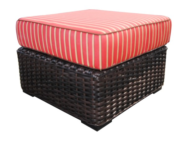 Santa Monica Ottoman with Cushion Fabric: Cocoa