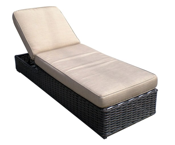 Santa Monica Chaise Lounge with Cushion Fabric: Air Blue