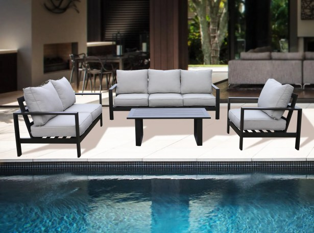 Bakerstown 4 Piece Sofa Set with Cushions